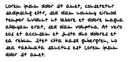 Schriftprobe myscriptfont.com