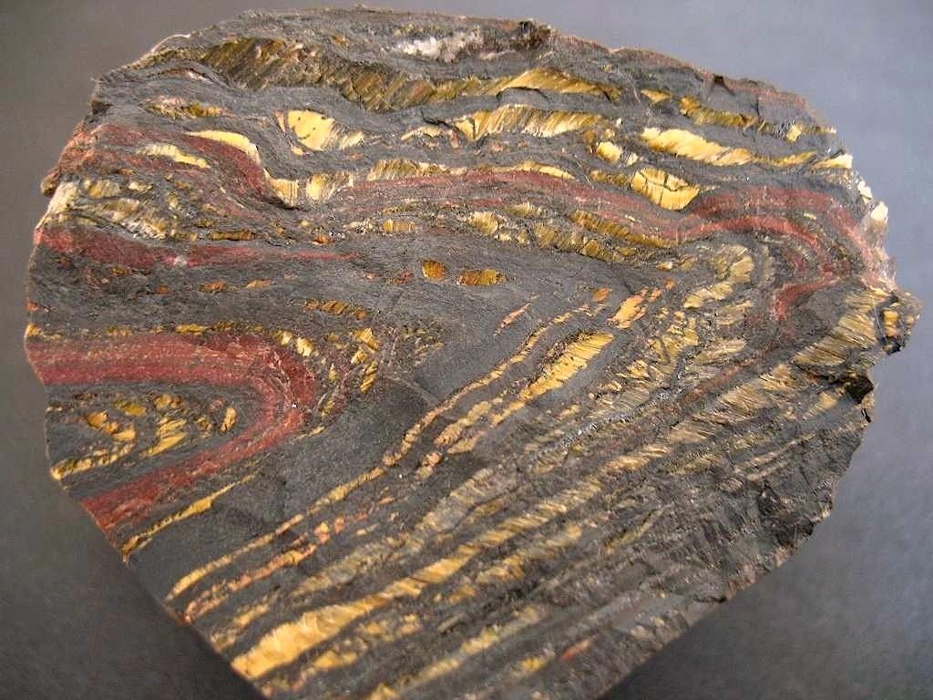 Banded Iron Formation, Australien, gefaltet