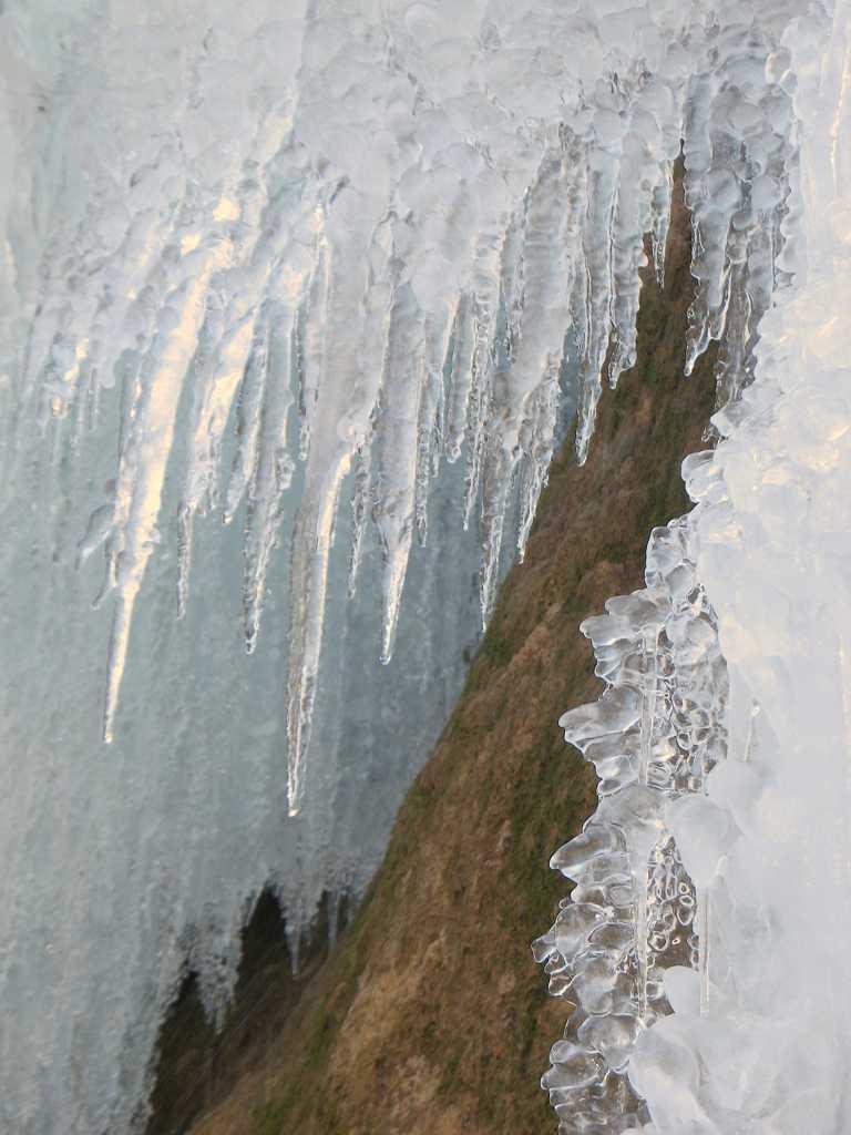 Eiszapfen an den Schleierfällen