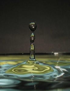 Wassertopfenfotografie Säule