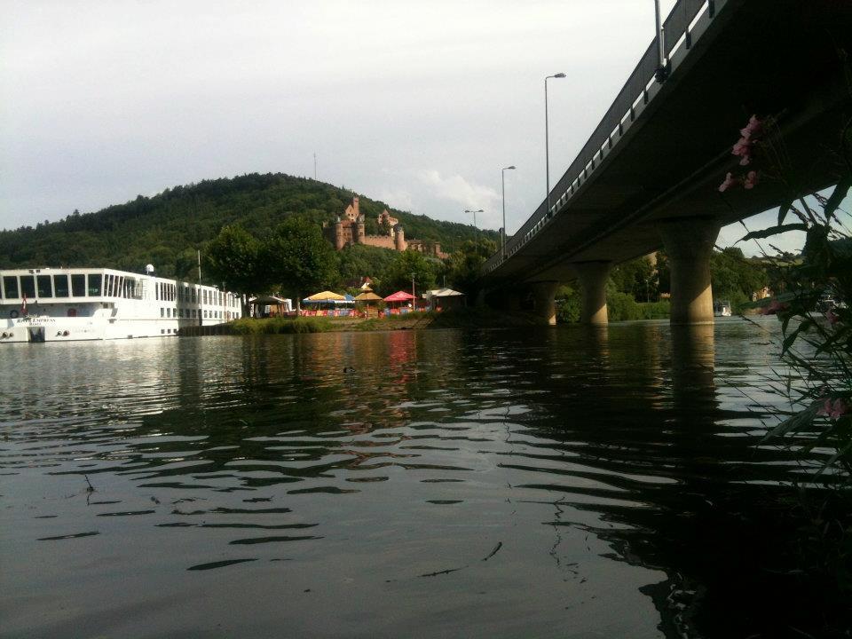Am Ziel: Bei Wertheim mündet die Tauber in den Main