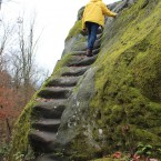 Nordwestfelsen, Treppenaufgang