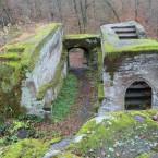 Torfelsen gesamt, mit Treppenaufgang, vermutlich zur Burgkapelle