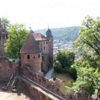 Burg Wertheim; Holderturm, Blick Richtung Burgeingang