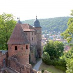 Burg Wertheim, Holderturm, Blick Richtung Burgeingang