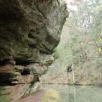 überhängender Fels