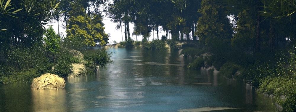 Ein in Blender erstellter Fluss