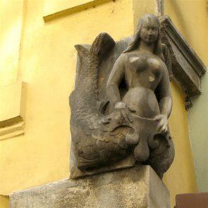 Prager Hauszeichen Zur Steinernen Meerjungfrau