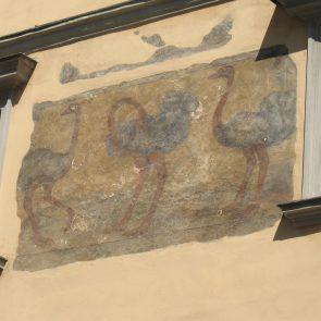 Prager Hauszeichen Zu den Drei Straußen