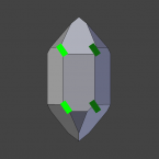Vereinfachtes Schema für die mögliche Lage der Trapezoederfläche beim Links-Quarz