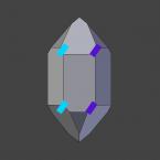 Vereinfachtes Schema für die mögliche Lage der Trapezoederfläche beim Rechts-Quarz