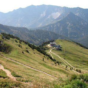 Rotwand, Blick auf Rotwandhaus von oben