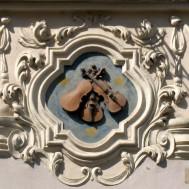Prager Hauszeichen Zu den Drei Geigen