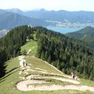 Baumgartenschneid, mäandernder Aufstieg zum Gipfel