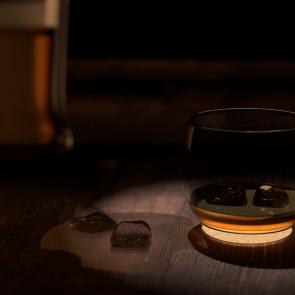Whiskey-Glas fast leer