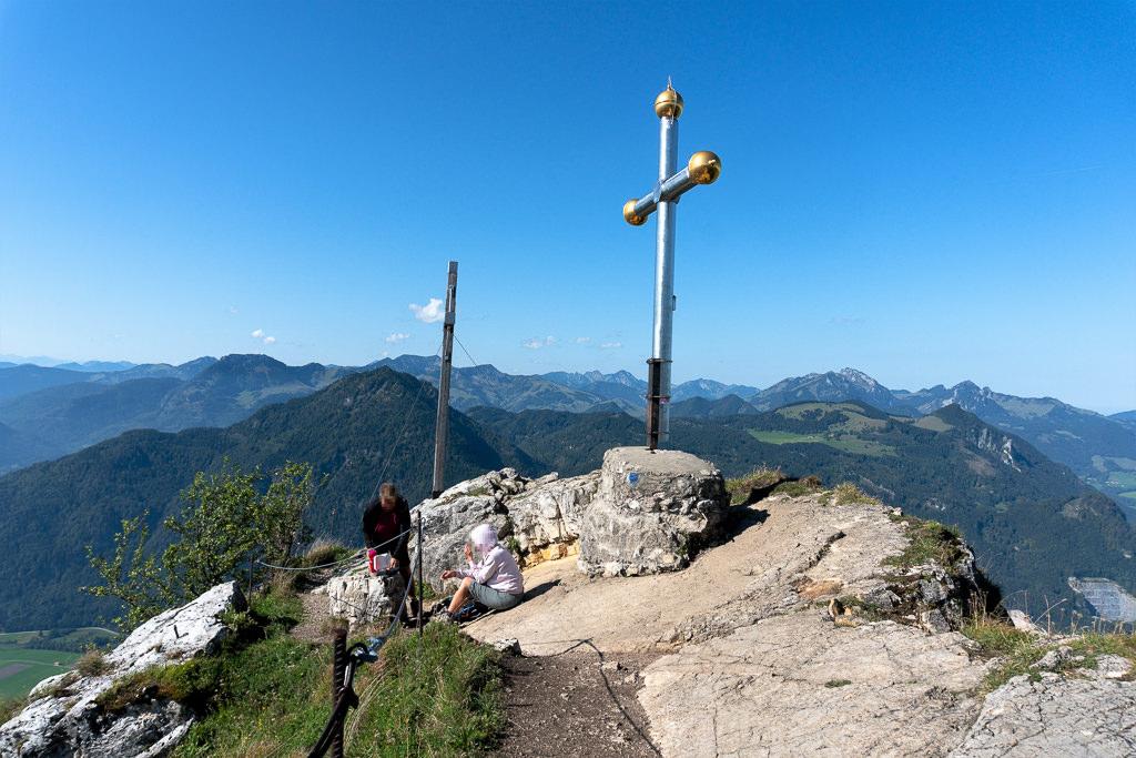 Kranzhorn zwei Gipfelkreuze