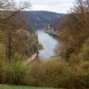 Befreiungshalle in Kehlheim: Blick zur Donau