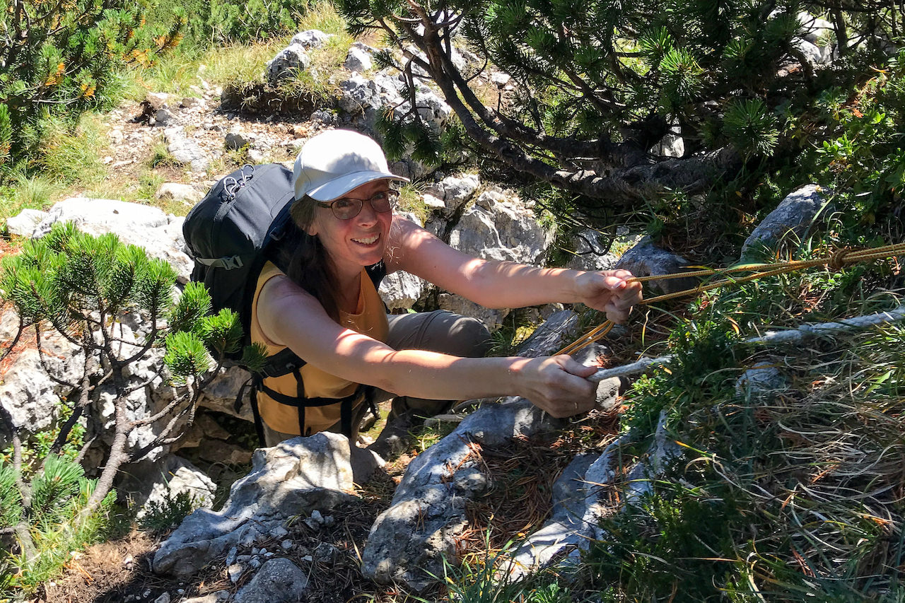 Klobenjoch: Die Mini-Kletterstelle